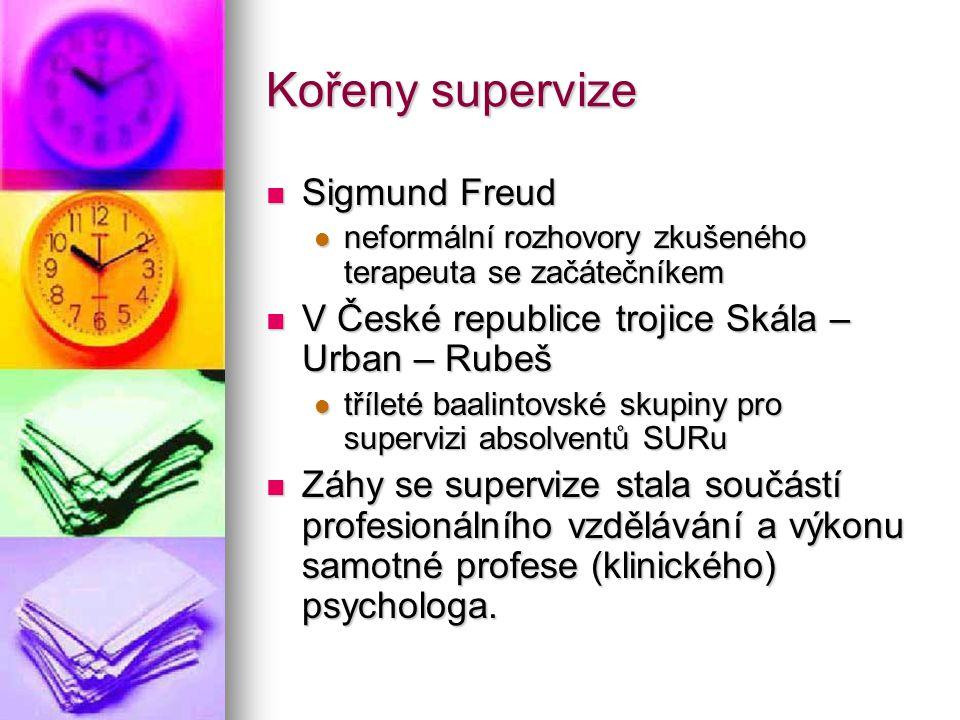Kořeny supervize Sigmund Freud Sigmund Freud neformální rozhovory zkušeného terapeuta se začátečníkem neformální rozhovory zkušeného terapeuta se začá