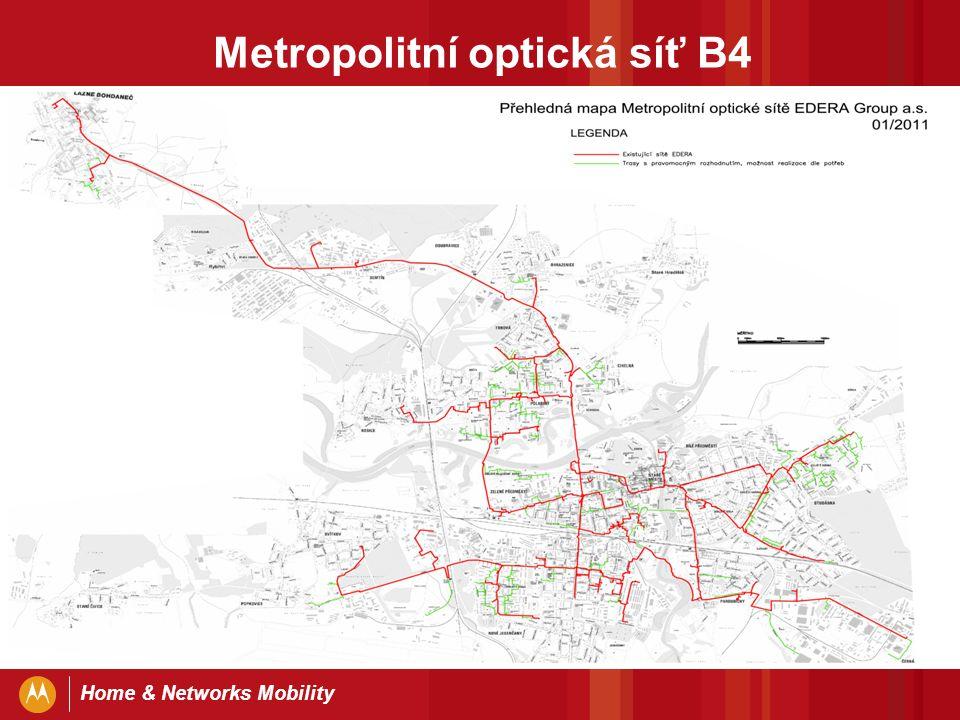 Home & Networks Mobility Metropolitní optická síť B4