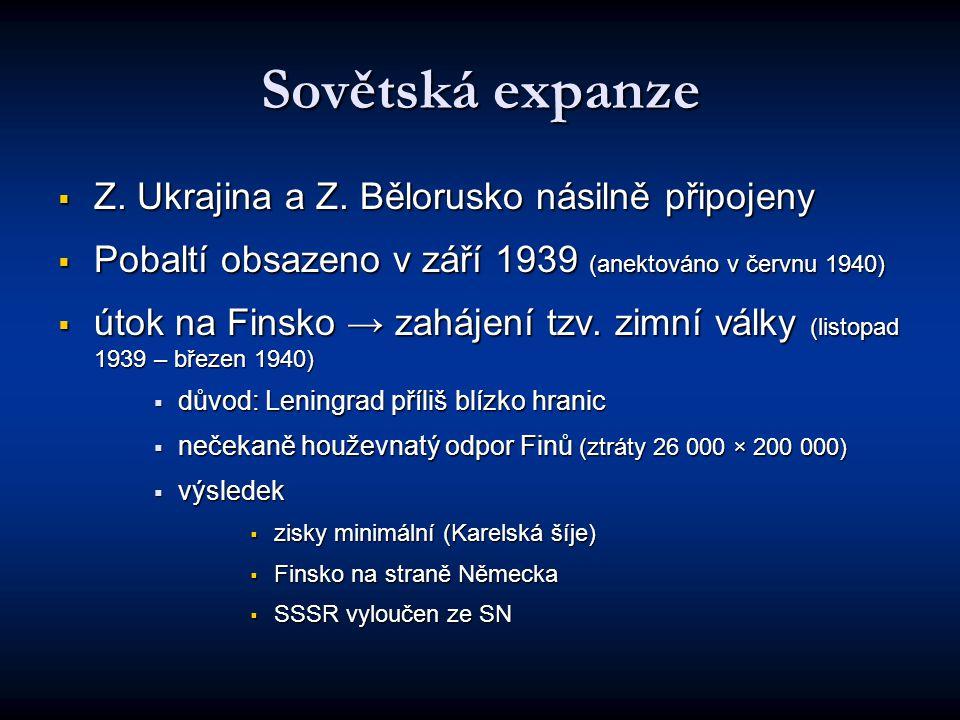Sovětská expanze  Z.Ukrajina a Z.