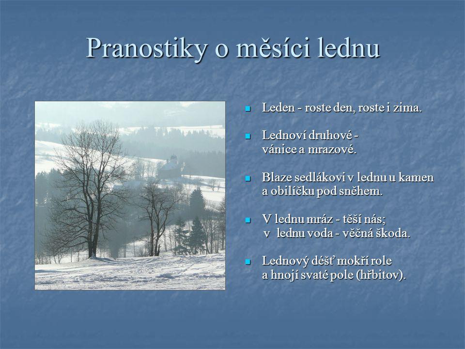 Charakteristika měsíce Leden zahajuje nový kalendářní rok. Leden zahajuje nový kalendářní rok. Zatímco Země je začátkem měsíce Slunci nejblíže, zima j