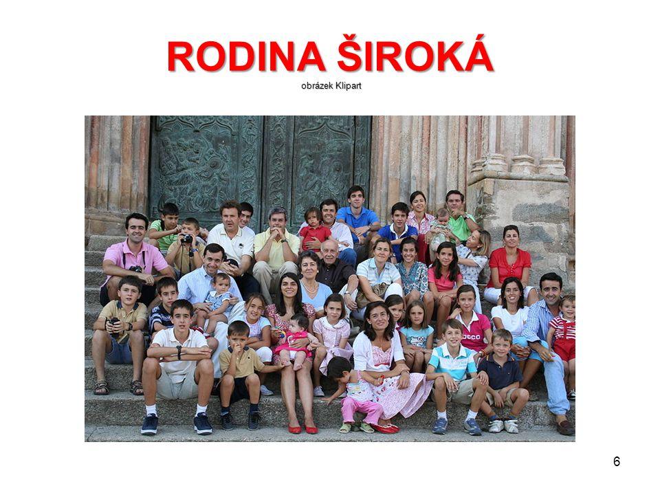 RODINA ŠIROKÁ obrázek Klipart. 5