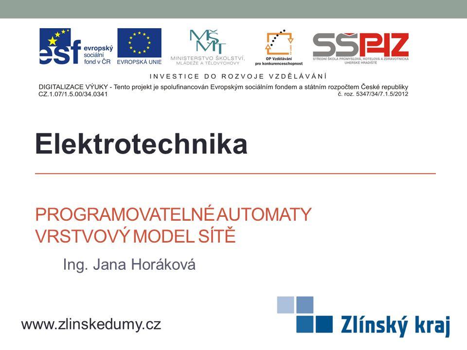 PROGRAMOVATELNÉ AUTOMATY VRSTVOVÝ MODEL SÍTĚ Ing. Jana Horáková Elektrotechnika www.zlinskedumy.cz