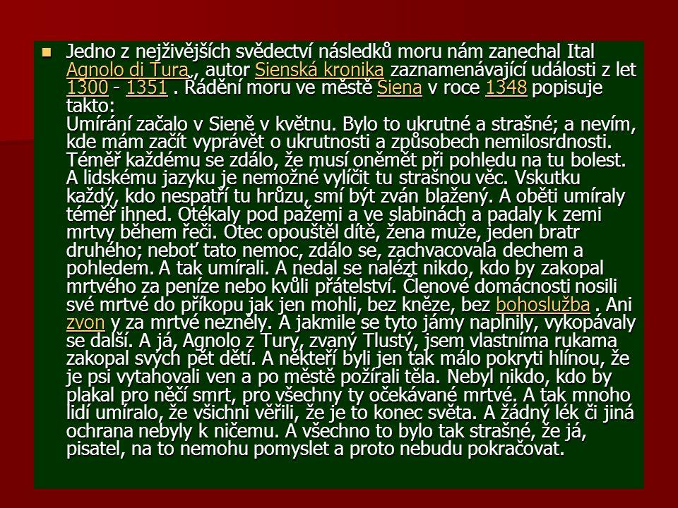 ČERNÁ SMRT - MOR Největší katastrofa, která kdy přepadla lidí.