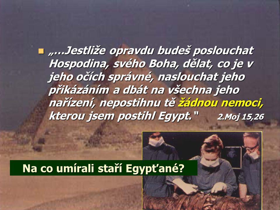 Na co umírali staří Egypťané.