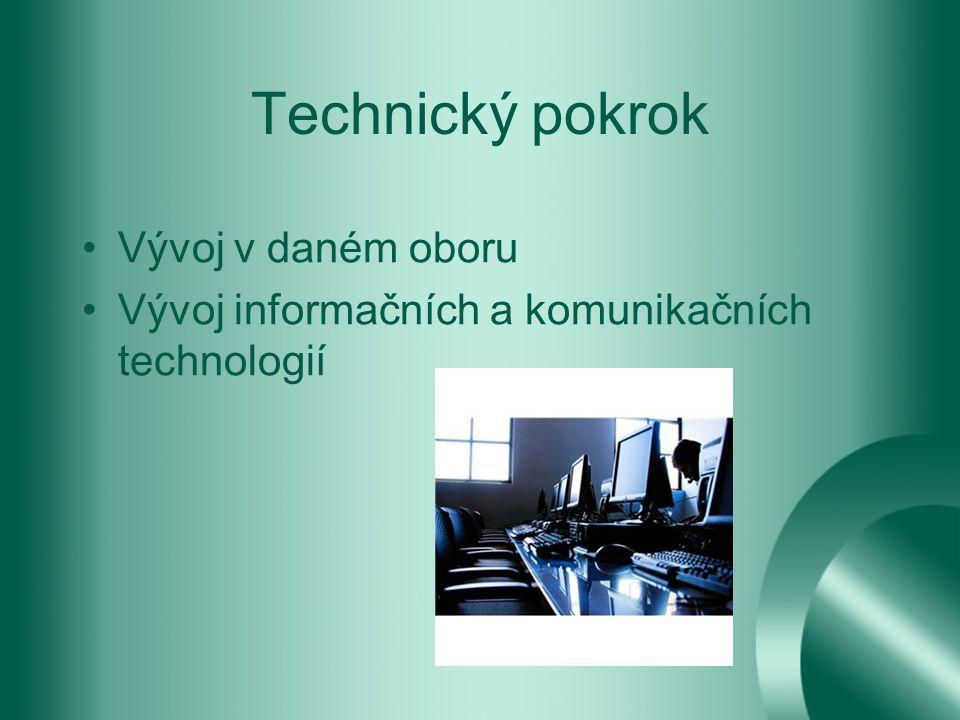 Technický pokrok Vývoj v daném oboru Vývoj informačních a komunikačních technologií
