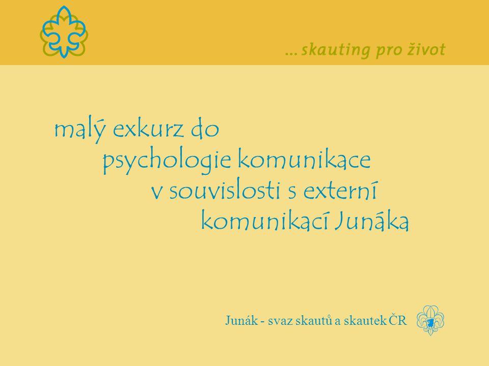 malý exkurz do psychologie komunikace v souvislosti s externí komunikací Junáka Junák - svaz skautů a skautek ČR