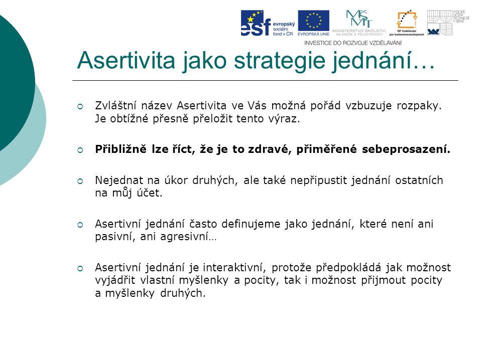 Asertivita jako strategie jednání…  Zvláštní název Asertivita ve Vás možná pořád vzbuzuje rozpaky.