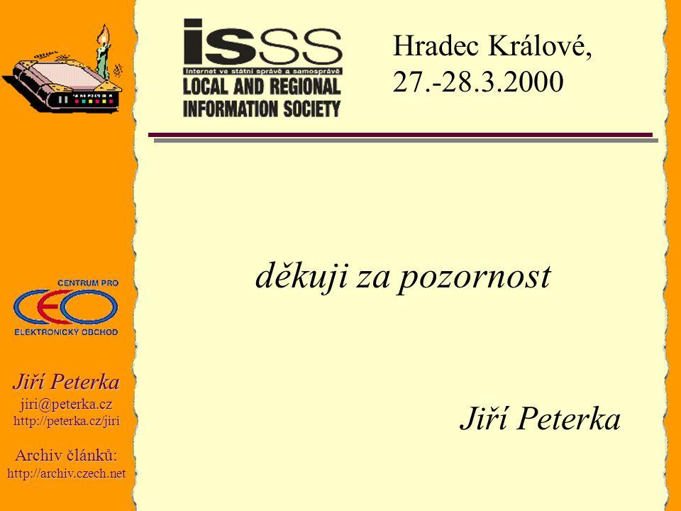 Jiří Peterka jiri@peterka.czhttp://peterka.cz/jiri Archiv článků: http://archiv.czech.net děkuji za pozornost Jiří Peterka Hradec Králové, 27.-28.3.20