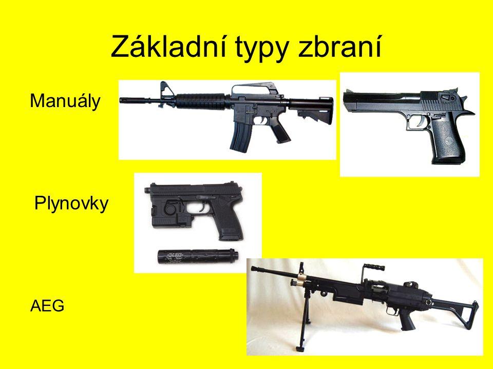 Základní typy zbraní Manuály Plynovky AEG