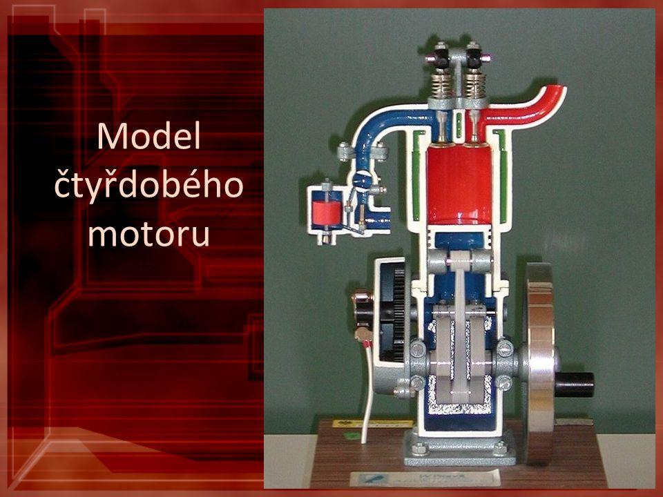 Model čtyřdobého motoru