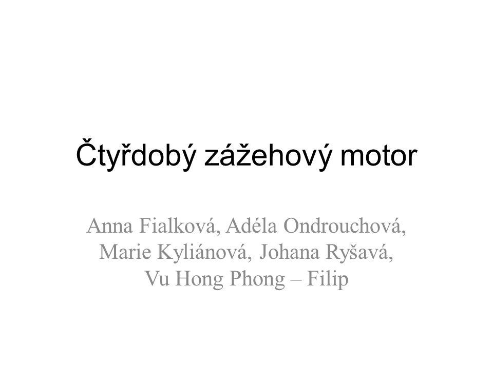 Čtyřdobý zážehový motor Anna Fialková, Adéla Ondrouchová, Marie Kyliánová, Johana Ryšavá, Vu Hong Phong – Filip