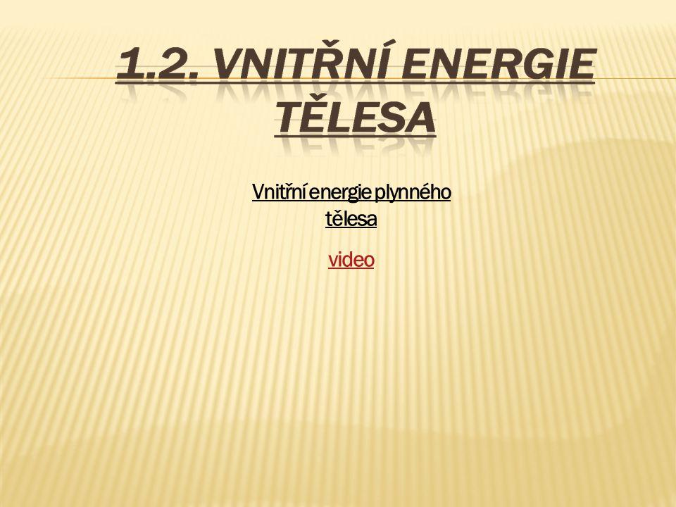 Vnitřní energie plynného tělesa video