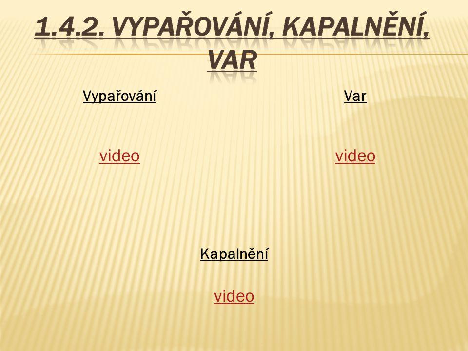 Vypařování video Var video Kapalnění video