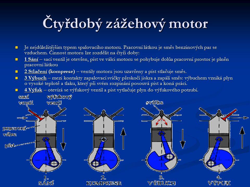 Čtyřdobý zážehový motor Je nejdůležitějším typem spalovacího motoru.