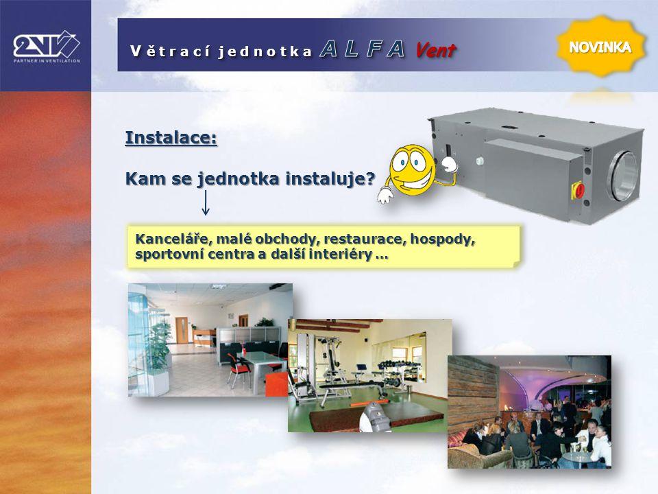 Instalace: Kam se jednotka instaluje? Kanceláře, malé obchody, restaurace, hospody, sportovní centra a další interiéry …