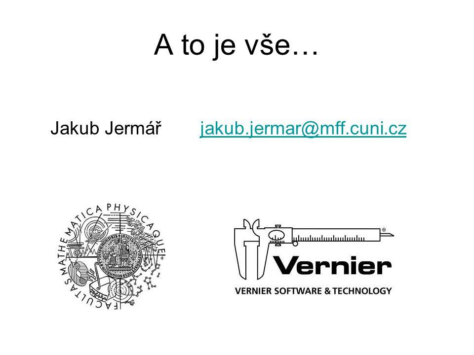 A to je vše… Jakub Jermářjakub.jermar@mff.cuni.cz