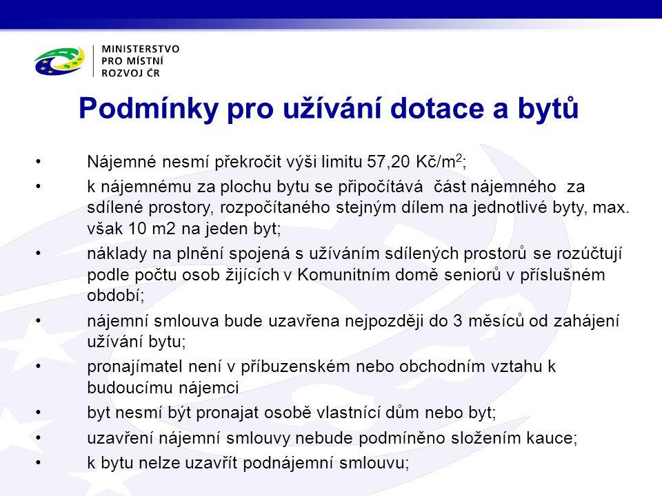 bez souhlasu MMR podporované byty převést na jinou osobu po dobu 20 let (pouze v dikcích zákona č.