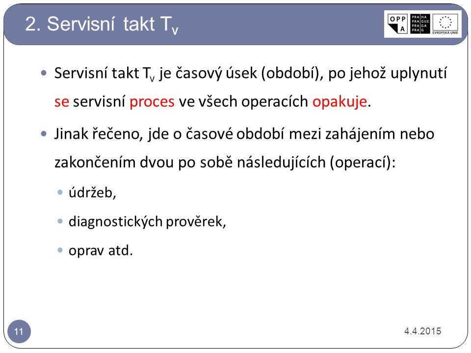 Servisní takt T v je časový úsek (období), po jehož uplynutí se servisní proces ve všech operacích opakuje. Jinak řečeno, jde o časové období mezi zah