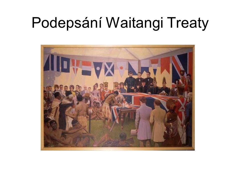 Po Smlouvě 1860: Počátek válek o půdu s Maory z oblasti kolem Taranaki.