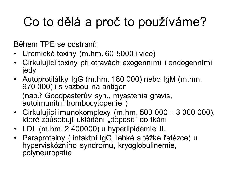 Co to dělá a proč to používáme.Během TPE se odstraní: Uremické toxiny (m.hm.