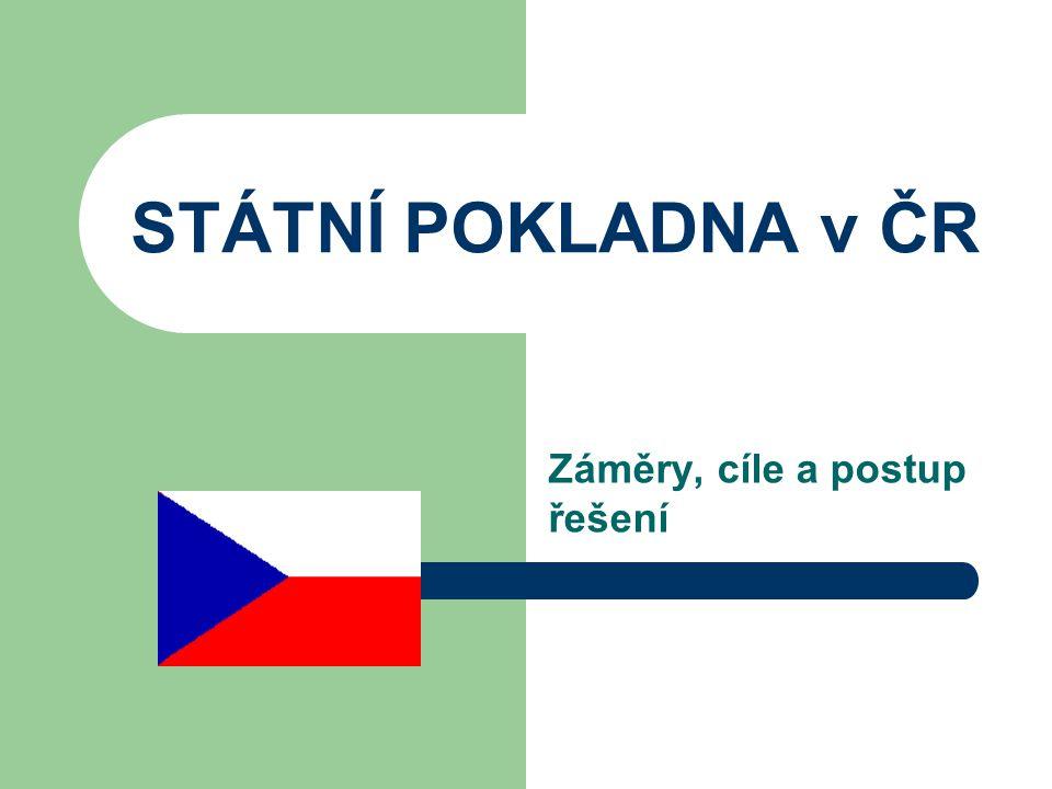 STÁTNÍ POKLADNA v ČR Záměry, cíle a postup řešení