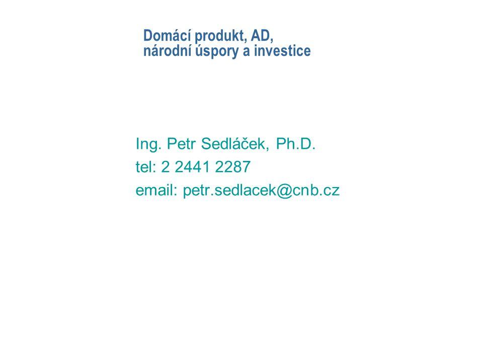 Domácí produkt, AD, národní úspory a investice Ing.