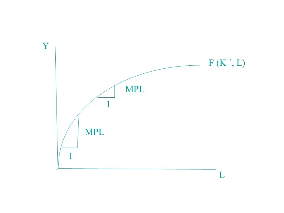 Y L F (K ´, L) MPL 1 1