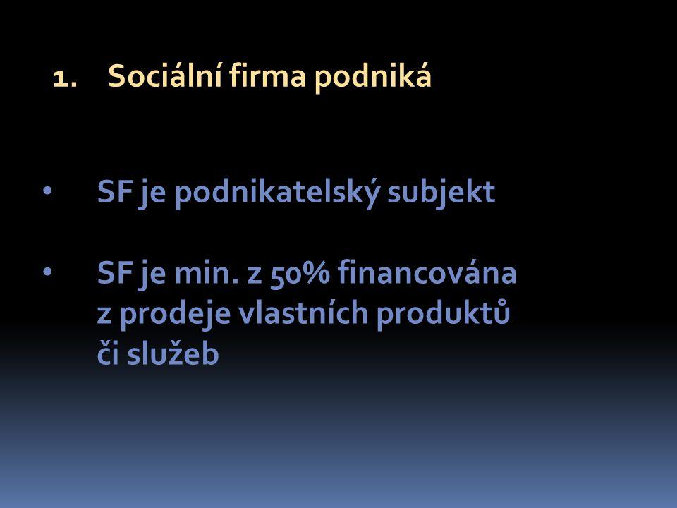 SF je podnikatelský subjekt SF je min.