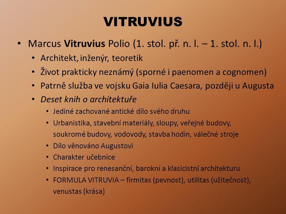 VITRUVIUS Marcus Vitruvius Polio (1.stol. př. n. l.
