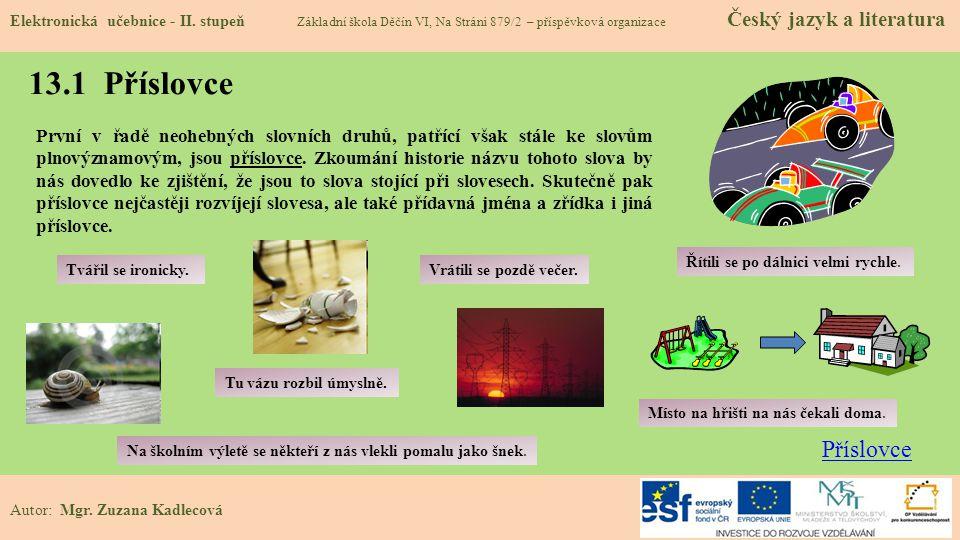 13.1 Příslovce Elektronická učebnice - II.