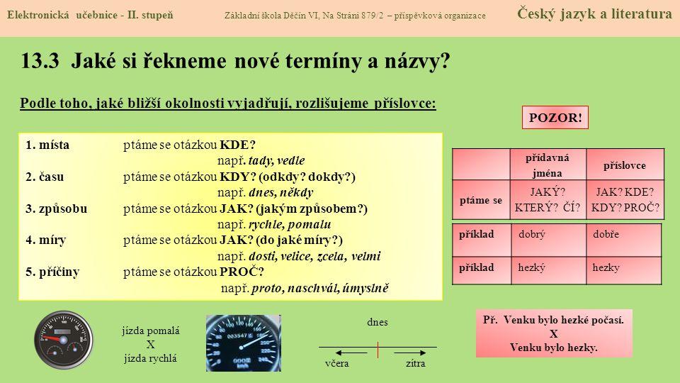 13.3 Jaké si řekneme nové termíny a názvy.Elektronická učebnice - II.