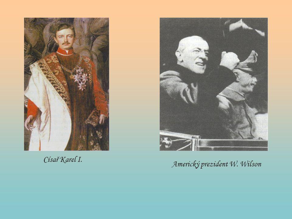 Císař Karel I. Americký prezident W. Wilson