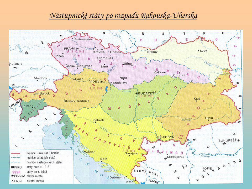 Nástupnické státy po rozpadu Rakouska-Uherska