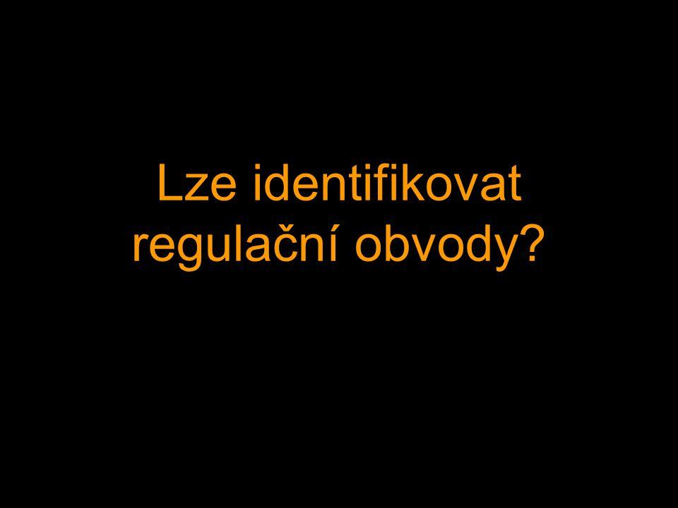 Lze identifikovat regulační obvody
