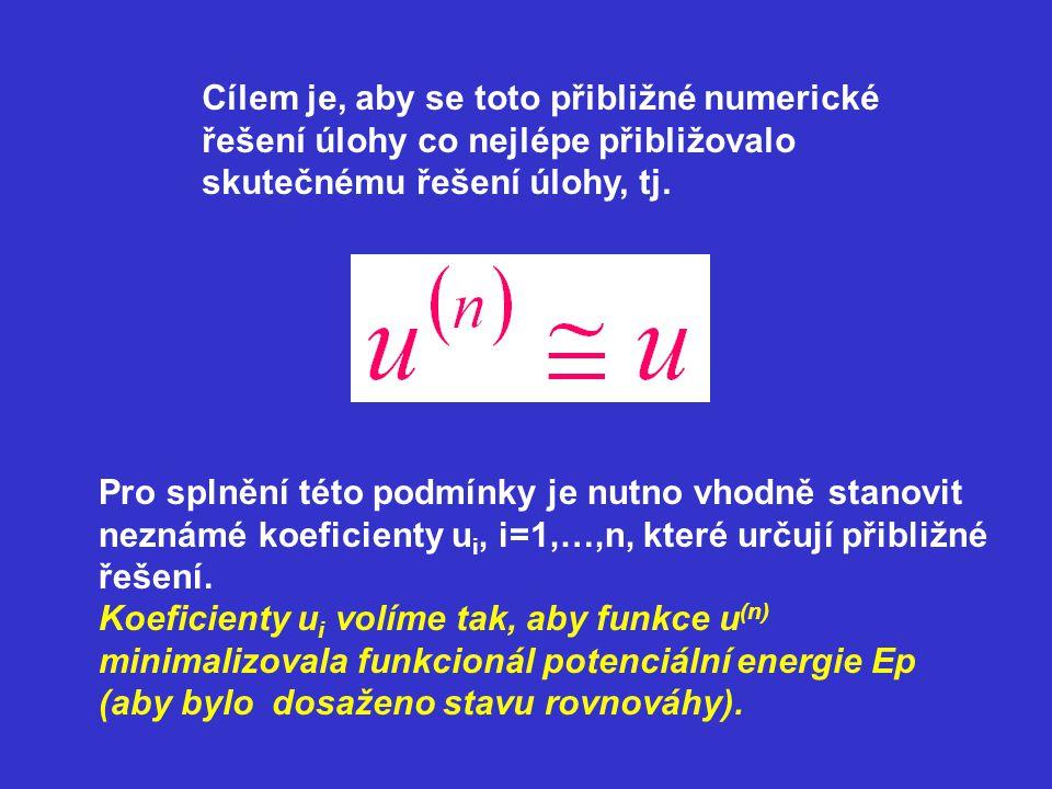 Cílem je, aby se toto přibližné numerické řešení úlohy co nejlépe přibližovalo skutečnému řešení úlohy, tj. Pro splnění této podmínky je nutno vhodně