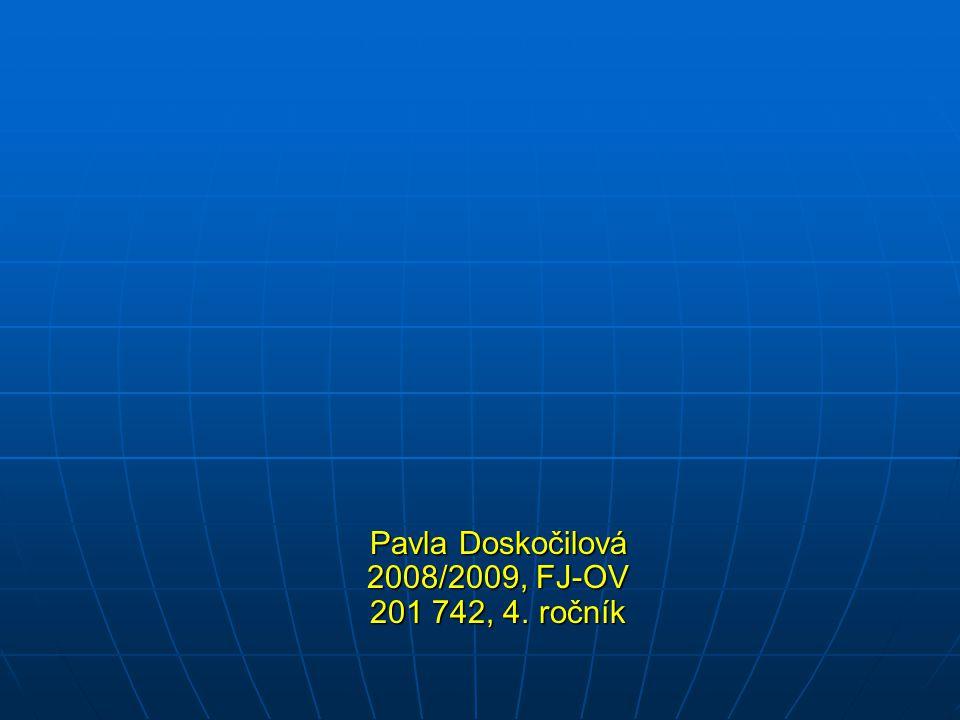 Pavla Doskočilová 2008/2009, FJ-OV 201 742, 4. ročník Pavla Doskočilová 2008/2009, FJ-OV 201 742, 4. ročník
