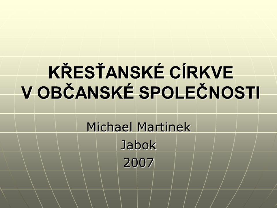 4 Křesťanské církve v občanské společnosti.Michael Martinek 12 Papež Benedikt XVI.