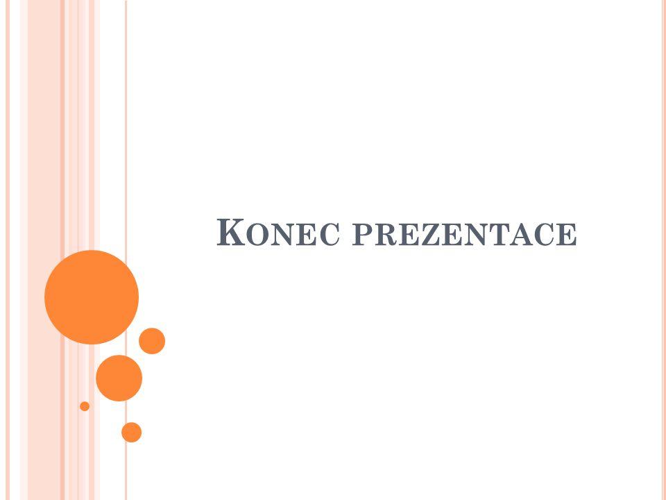 K ONEC PREZENTACE