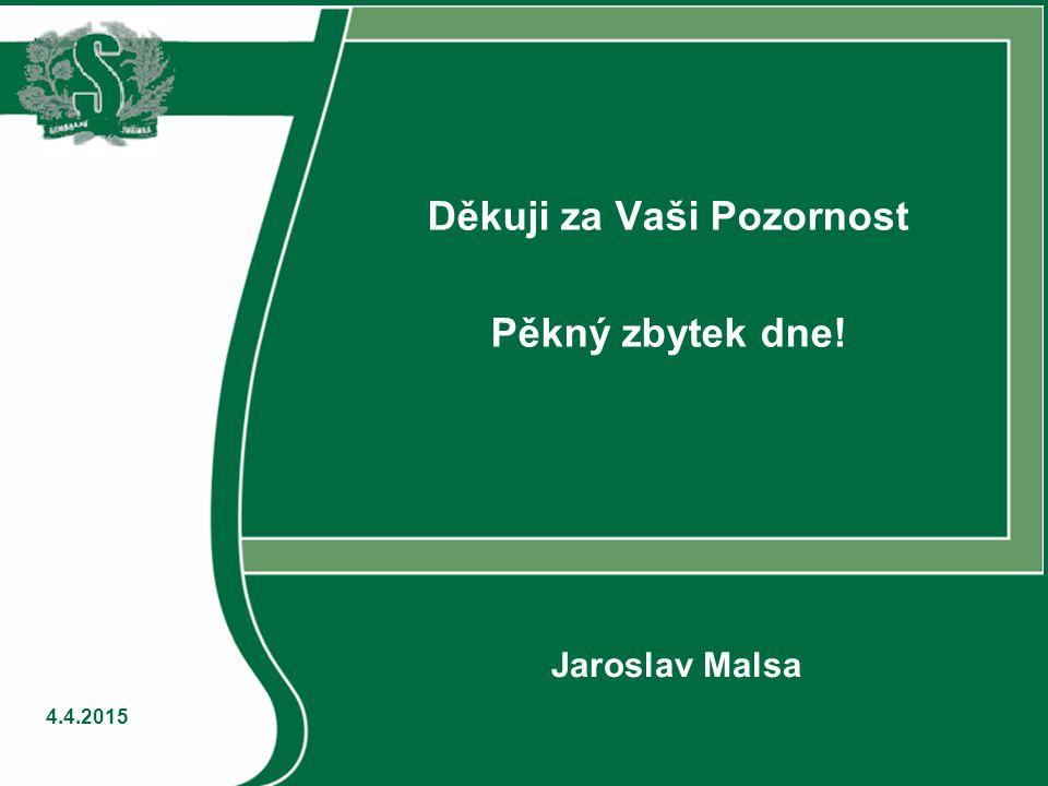 4.4.2015 Děkuji za Vaši Pozornost Pěkný zbytek dne! Jaroslav Malsa