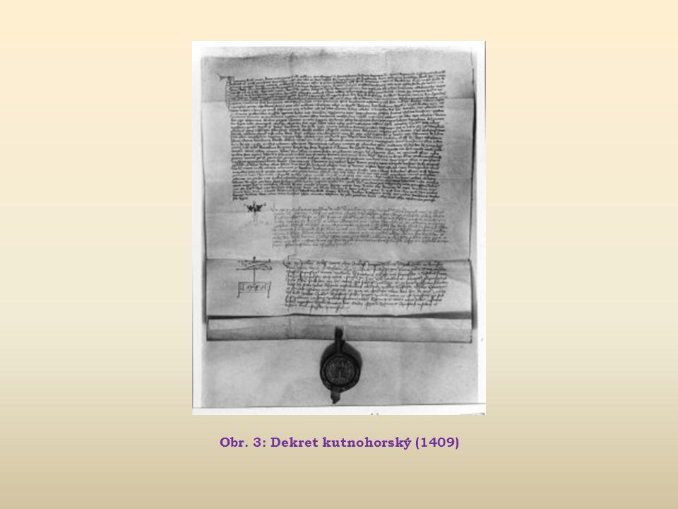 Jan Hus Život reformátora, myslitele a kazatele (~1370 – 1415)  1409 podruhé zvolen rektorem pražské univerzity  snaha prosadit větší podíl Čechů př