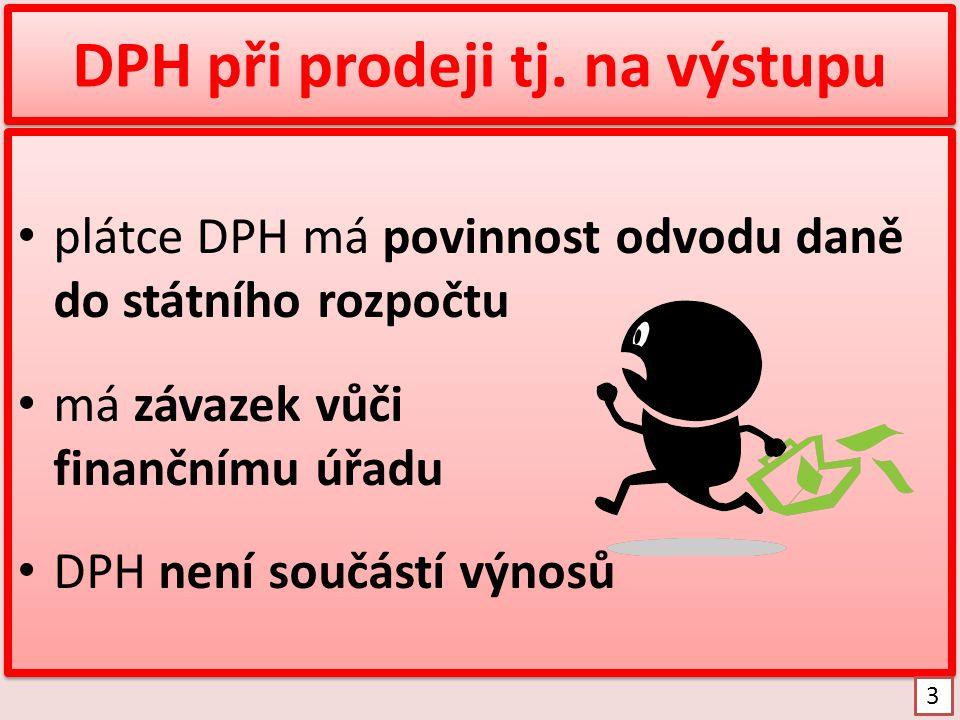 Princip DPH při nákupu Dodavatel Moje firma Dodavatel Moje firma 4 finanční úřad nákup