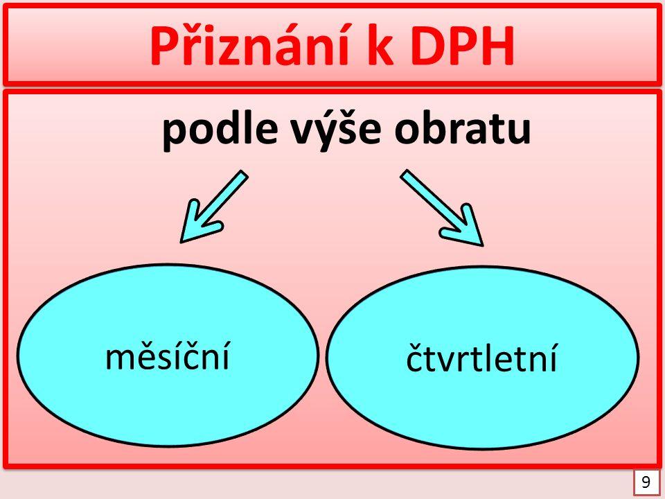 Formulář přiznání k DPH http://www.financnisprava.