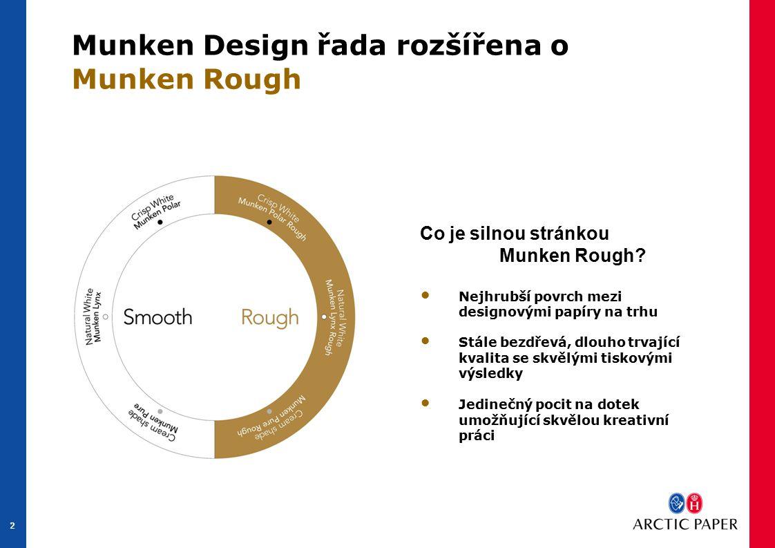 2 2 Munken Design řada rozšířena o Munken Rough Co je silnou stránkou Munken Rough.
