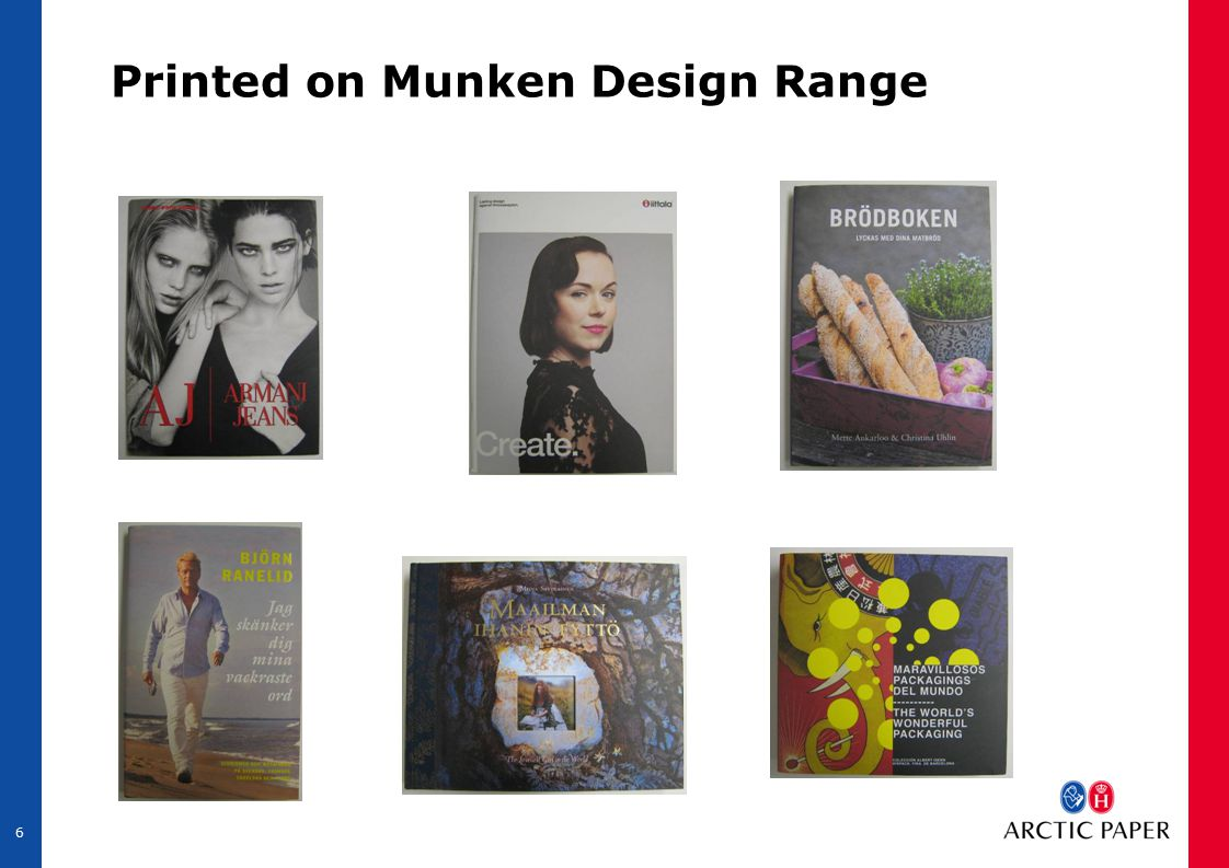 6 Printed on Munken Design Range