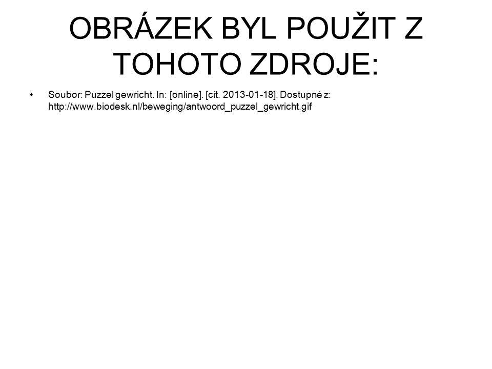 OBRÁZEK BYL POUŽIT Z TOHOTO ZDROJE: Soubor: Puzzel gewricht. In: [online]. [cit. 2013-01-18]. Dostupné z: http://www.biodesk.nl/beweging/antwoord_puzz