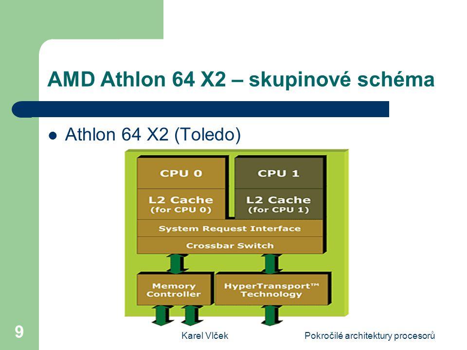 Karel VlčekPokročilé architektury procesorů 9 AMD Athlon 64 X2 – skupinové schéma Athlon 64 X2 (Toledo)