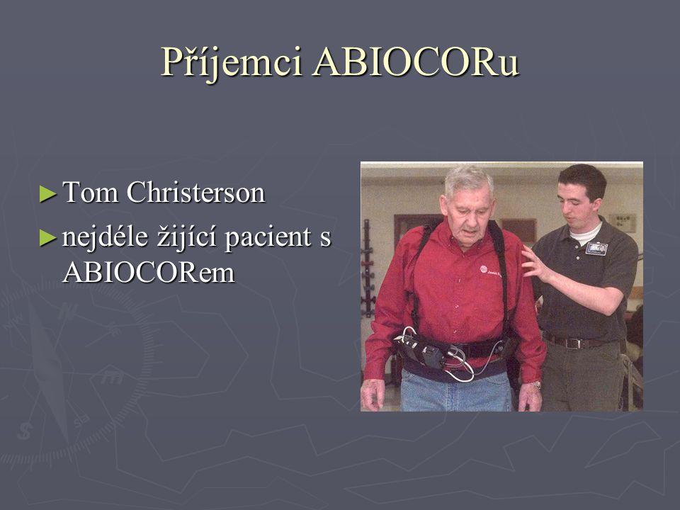 Příjemci ABIOCORu ► Tom Christerson ► nejdéle žijící pacient s ABIOCORem