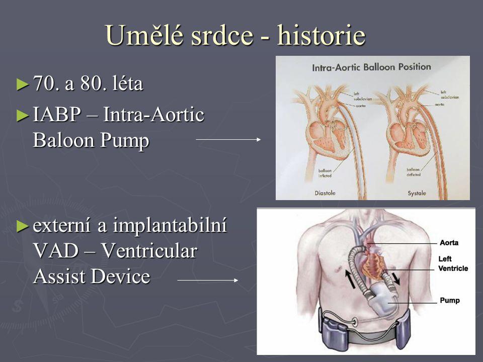 Umělé srdce - historie ► 70. a 80.