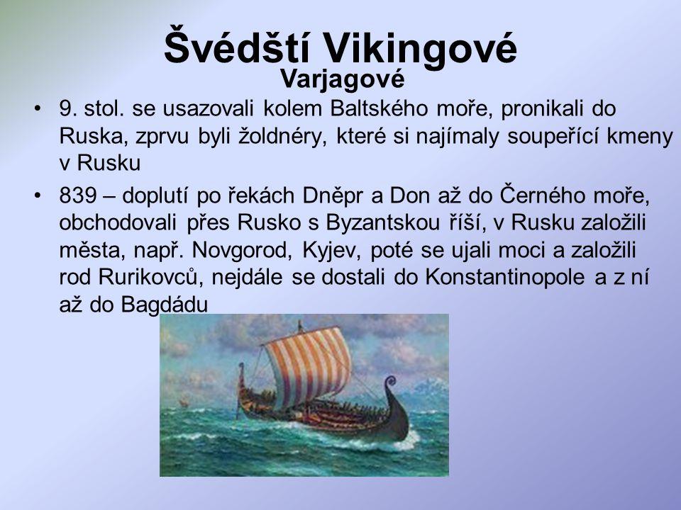 Švédští Vikingové 9.stol.