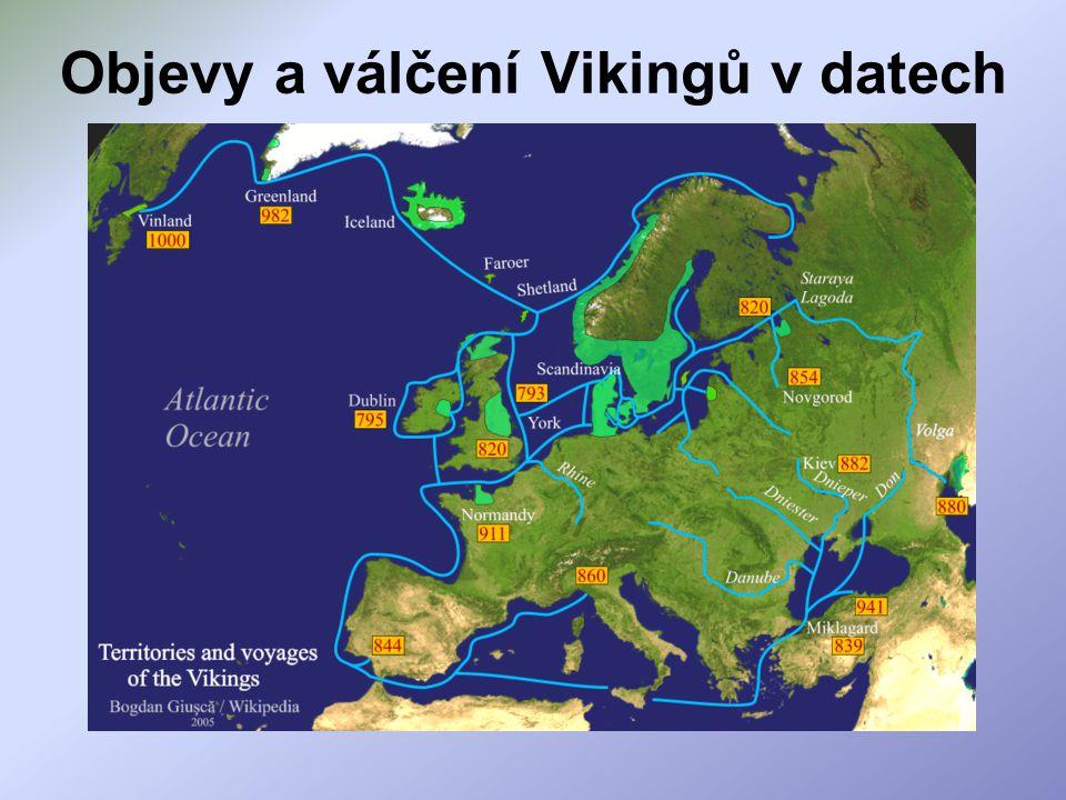 Objevy a válčení Vikingů v datech